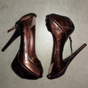 Bakers Shoes - BAKERS Peep Toe Heels-NEW!